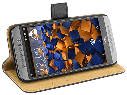 Preisvergleich Produktbild mumbi Ledertasche im Bookstyle für HTC One (M9) Tasche