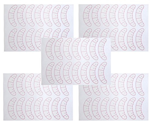 35 Paires Patchs Tampons Pour Extension de cils non pelucheux Autocollants yeux vinyle Outils de Maquillage