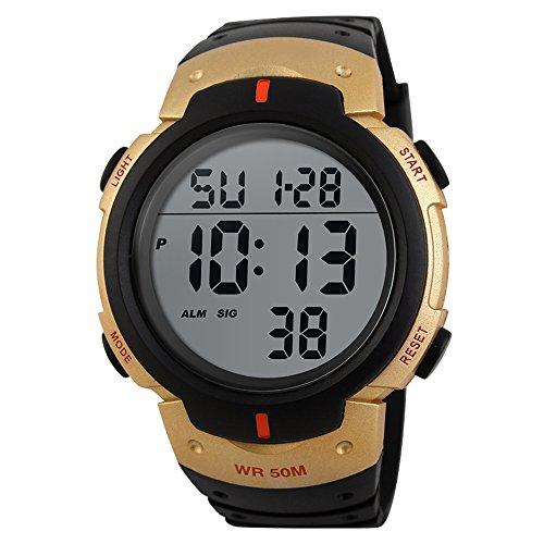 TTLIFE Armbanduhr, Sportuhr, Digitaluhr, Wasserdicht, mit Alarm Kalender, Uhren für Herren Männer Damen Frauen Jungen universal Multifunktions-Analog Clock (Blau)