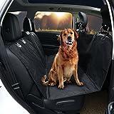 GHB Hundedecke Auto, Wasserdichte Hunde Autoschondecke 150x140cm Schondecke einfache Reinigung mit Sicherheitsgurt für Autos Trucks Van und SUV