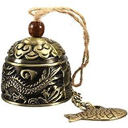 Juguetes Juegos Tradicionales Colgantes Dragón Chinos Campana Bendición Carillón de Vient Feng Shui o Fortuna Suerte