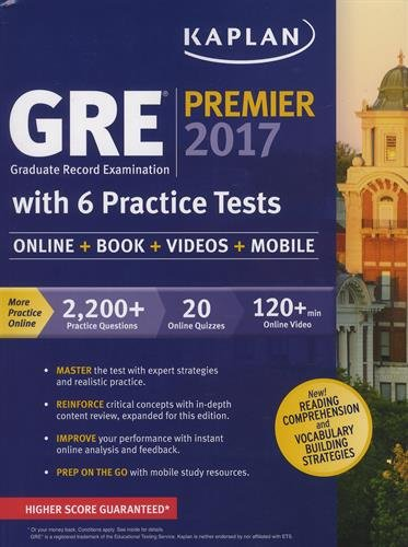 GRE Premier 2017 with 6 Practice Tests: Online + Book + Videos...