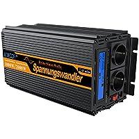 spannungswandler reiner sinus 1000 2000W wechselrichter 12V 230V LCD power inverter