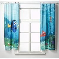 AG Design FCS xl 4320 - Cortinas para habitación infantil, diseño de la película de Disney Buscando a Nemo