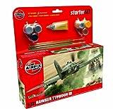 Airfix - Kit Mediano con Pinturas, avión Hawker Typhoon (Hornby A55208)