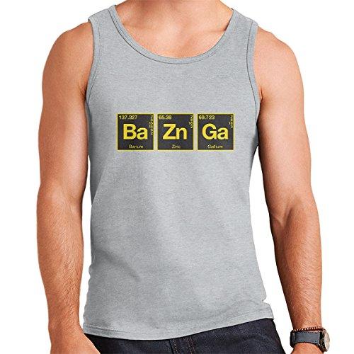 Bazinga Chemical Symbols Big Bang Threory Men's Vest Heather Grey