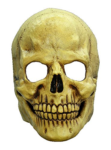 arty Kostüm Totenkopf Maske des Grauens aus Latex für Erwachsene (Sensenmann Kostüm Erwachsene)