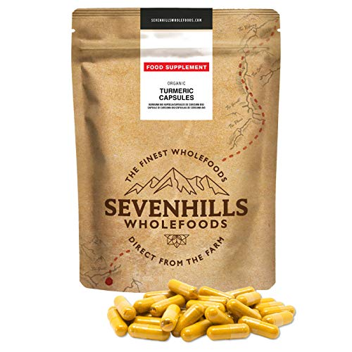 Sevenhills Wholefoods Kurkuma Bio Kapseln, 500mg x 180