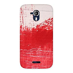 Stylish Red Fresh Texture Back Case Cover for Micromax Canvas Magnus A117