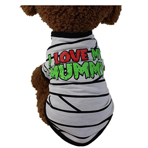 leidung T Shirt Puppy Kostüm für Kleine Hunde, XS, Weiß ()