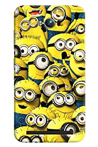 Blue Throat Minion Pattern Printed Designer Back Cover For Asus Zenfone Max