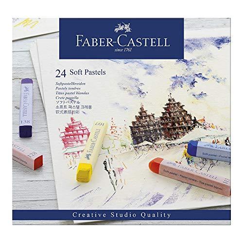 Faber-Castell 128324 - Softpastellkreide studio quality, 24er Etui -