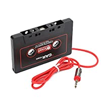 ZOMTOP 3.5mm Car AUX Audio Tape Cassette Adapter Converter For Car CD Radio Player MP3 Magnetic Tape Player Recorder Receiver Cassette