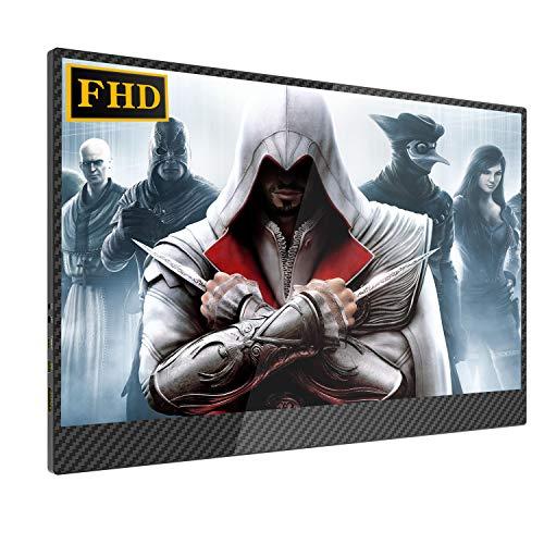 15,6 Zoll Portable Monitor Gaming 1920 × 1080 UPERFECT Tragbarer FHD Bildschirm IPS Anzeige HDMI Eingang für Raspberry Pi/Xbox/PS/Computer/Laptop