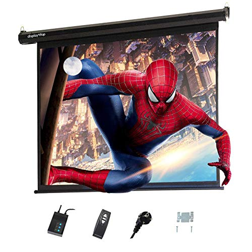 "Display4top Electric 60"" Projektion Leinwand Beamer Leinwand 4:3 Portable Foldable for Home Theater Cinema Indoor Outdoor Projector Movie Screen,Screen:120cm(W) x 90cm(H)"