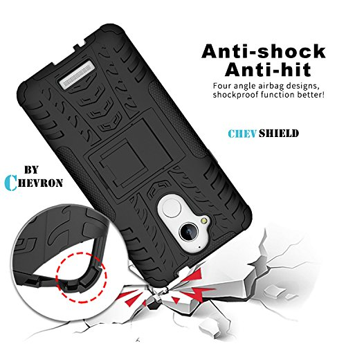 Chevron Coolpad Note 5 Tough Hybrid Armor Back Cover Case with Kickstand (Black) [CHEV SHIELD]