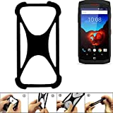 K-S-Trade Handyhülle kompatibel mit Crosscall Trekker X3 Schutz Hülle Silikon Bumper Cover Case Silikoncase TPU Softcase Schutzhülle Smartphone Stoßschutz, schwarz (1x)