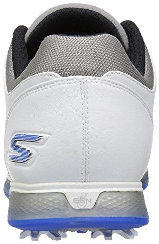 Skechers, Scarpe da golf uomo White/Gray/Blue
