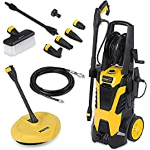 Powerplus High Pressure Washer 165BAR 2200w with 5 Metre Hose, Large Wheels & Accessories POWXG9035