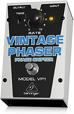 Behringer VP1 4033653051446 - Pedal de efecto phaser para guitarra, color plateado