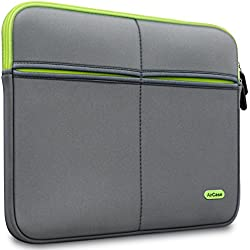 AirCase 15-Inch to 15.6-Inch Laptop Sleeve, Premium, Designer, Suave, 6-MultiUtility Pockets (Gray)