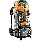 AspenSport Unisex Rucksack Mount Cook, grau/orange, 75 x 35 x 30 cm, 65 liters, AB06Y04