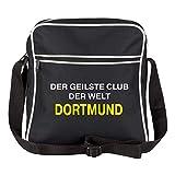 Schultertasche Der geilste Club der Welt Dortmund schwarz - Dortmund Dortmunder Fußball Tasche Fanartikel