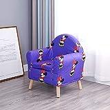 Kinder Sessel,Kinder Sofa,Gepolsterte Couch Möbel Entfernbar Weich Stetigen Gemütlich Single Cartoon-G 48x40x58cm(19x16x23inch)