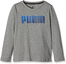 Puma-Camiseta de manga larga para niño, color gris Heather FR: 14 años (164) talla fabricante: