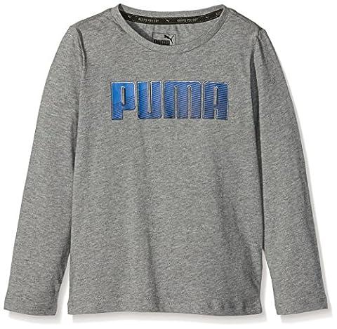 Puma Sport T-Shirt manches longues Garçon Medium Gray Heather FR : 12 ans (Taille Fabricant : 152)