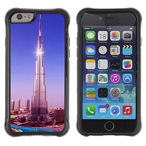 Graphic4You Burj Khalifa Skyscraper Dubai Postkarte Ansichtskarte Design Shockproof Anti-Rutsch Weichen Hülle Case Tasche Schutzhülle für Apple iPhone 6 Plus / 6S Plus Design #4