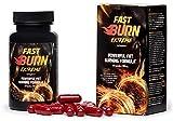 ✅FAST BURN EXTREME - effektiver Fatburner, bescheunigt die Verbrennung von Fettreserven, Fettdepots, verhindert Fett Neuablagerung am Bauch, stärkt das Muskelwachstum, verleiht Energie, ideal für Sportlerprofis und Amateure, 60 Kapseln / 800 mg