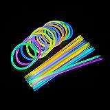 Johnterry JT02 - Pulseras de brillos (100 unidades, brillantes, varios colores, brillantes,...