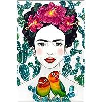 POSTERLOUNGE Póster 40 x 60 cm: Frida's Lovebirds de Mandy Reinmuth - Impresión Artística de Alta Calidad, Nuevo Póster Artístico