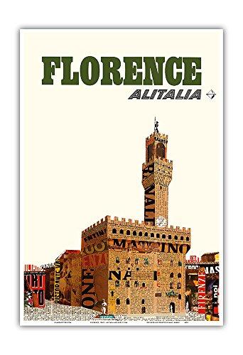 florenz-italien-alitalia-fluggesellschaft-palazzo-vecchio-vintage-retro-fluggesellschaft-reise-plaka