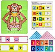 ZIXIXI Juguetes de matemáticas, para niños pequeños, juguete educativo STEM a partir de 18 meses, juego de con