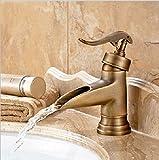 FuweiEncore Grifo de Bañera de Lavabo Vintage con Lavabo para Baño