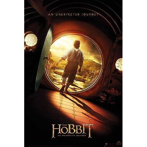 Empire Merchandising - Poster, motivo: trailer del film Hobbit, con accessori per il montaggio Avec 2 baguettes