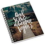 #6: Aurra Designer Wire bound ruled paper sheets personal and office stationary Notebooks & diary.