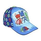 Pj Masks Super Pigiamini 2200002861 Cappello Visiera Premium, Cotone, Bambini, Multicolore, Gattoboy, Geco, Gufetta