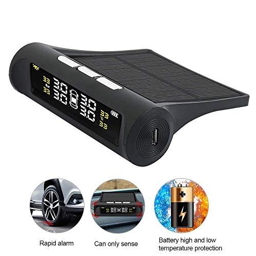 Teepao auto monitor di pressione, sistema di monitoraggio della pressione teepaotire energia solare senza fili con sistema di allarme con display lcd a colori e 4sensori per auto