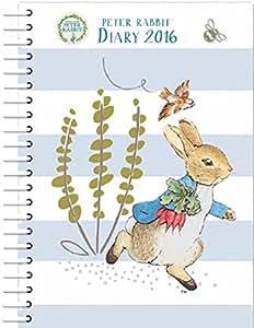 2016 Diary A5 Beatrix Potter Peter Rabbit Design Hard Back Wiro Weekly Journal