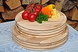 8 Picknick Pizzabretter, Flammkuchen Servierbrett, Holzbrett rund, PREMIUM-QUALITÄT, groß Holz,mit umlaufender Rille - Ölrille / Saftrille -, je 4 x ca. 25/28 cm, als Bruschetta-Pita-Döner-Naan-Roti-Ciabatta-Langos-Chubz-Servierbretter, Picknick-Schneidebrett Picknick-Schneidebrettchen, Picknickbrettchen,Anrichtebretter, Brotzeitbretter, Steakteller schinkenbrett rustikal, Schinkenteller von BTV