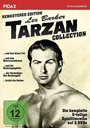Tarzan - Lex Barker Collection / Remastered Edition / Alle 5 Tarzan-Abenteuer mit Lex Barker in einer Sammlung (Pidax Film-Klassiker) [3 DVDs]
