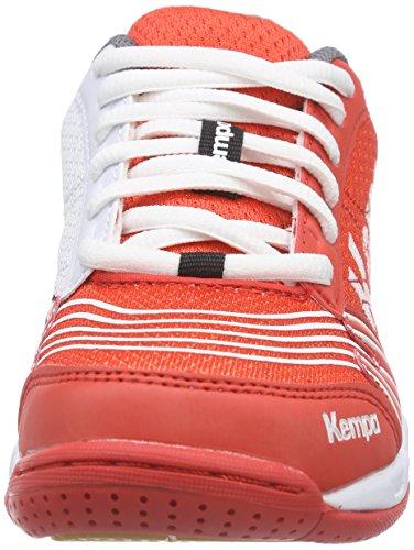 Kempa STATEMENT ATTACK Unisex-Kinder Handballschuhe Mehrfarbig (fire red/grau/weiß)