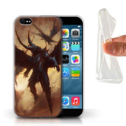 Offiziell Chris Cold Hülle / Gel TPU Case für Apple iPhone 6 / Teufel/Tier Muster / Wilden Kreaturen Kollektion Flügel von Nox