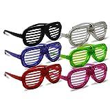 3 x Partybrille LED Gitterbrille Party Brille Atzen Atzenbrille