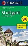 Stuttgart und Umgebung: Wanderkarten-Set mit Radrouten. GPS-genau. 1:50000: 2-delige Wandelkaart 1:50 000 (KOMPASS-Wanderkarten, Band 780)