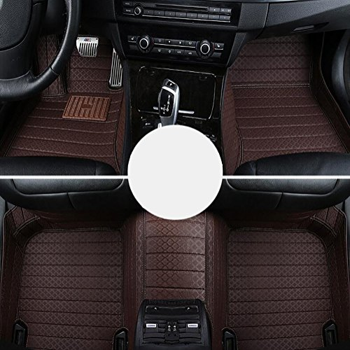 QXXZ Autodecorun Autofußmatten für BMW 1 2 3 4 5 6 7 X1 X3 X4 X5 X6 Z4 Serie Autoteppich-Set Zubehör, C