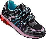LUPILU® Kinder LED-Schuhe (schwarz/hellblau/rosa, Gr. 27)